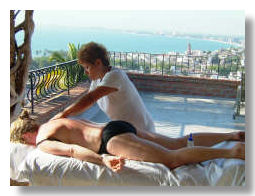 Relaxing massage at the villa